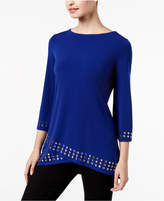 JM Collection Petite Embellished Crossover Top, Created for Macy's