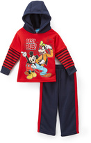 Children's Apparel Network Mickey Mouse Red 'Best Pals' Hoodie & Pants - Toddler