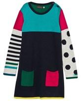 Catimini Multi Stripe and Spot Knit Dress