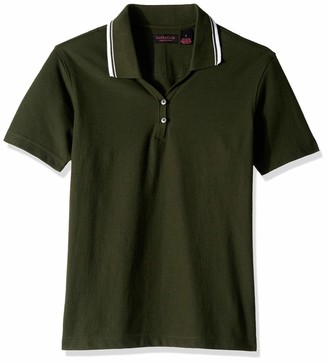 Clementine UltraClubs Women's ULTC-8546-Short-Sleeve Pique Polo with Rib-Knit Collar