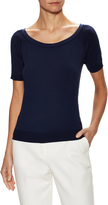 Milly Women's Ribbed Raglan Tee