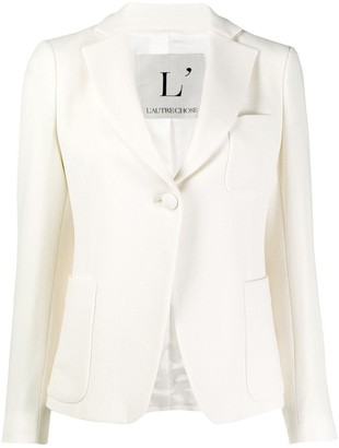 L'Autre Chose Wool Single-Breasted Blazer