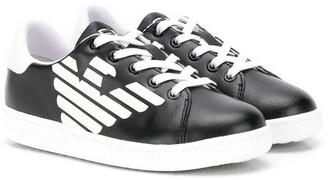 Emporio Armani Kids low-top logo sneakers