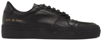 Common Projects Black Full Court Sneakers