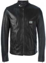Dolce & Gabbana zipped leather jacket - men - Silk/Calf Leather - 50