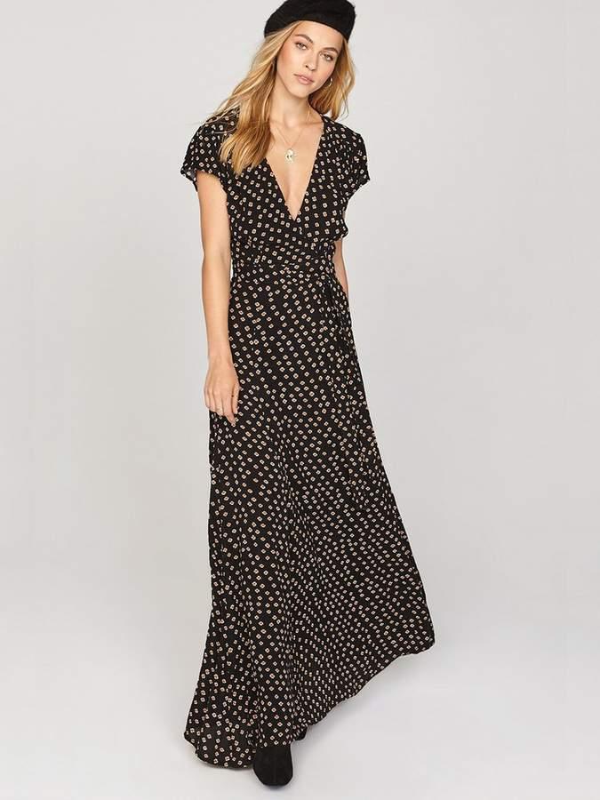 Amuse Society Beachscape Wrap Maxi Dress
