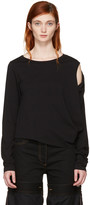 MM6 MAISON MARGIELA Black Crooked T-shirt