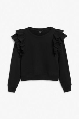 Monki Ruffle sleeve sweater