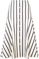 Veronica Beard striped flared skirt