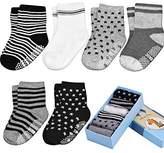 INNOCHEER Toddler&Baby Socks, Non Slip, 6-Pack boxed set for 1-3 Year Baby Girls&Boys