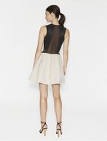Halston Fabric Combo Color Blocked Dress
