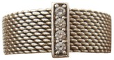 Tiffany & Co. 925 Sterling Silver Somerset Diamond Mesh Wide Band Ring Size 6