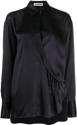 Jil Sander Wrap-Style Asymmetrical Blouse