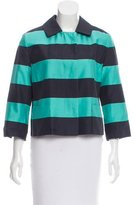 Akris Punto Casual Striped Jacket