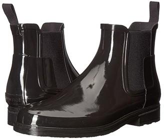 Hunter Refined Chelsea Gloss (Black) Men's Rain Boots