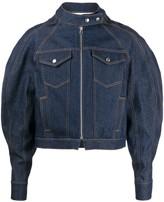 Eckhaus Latta puff sleeve denim jacket