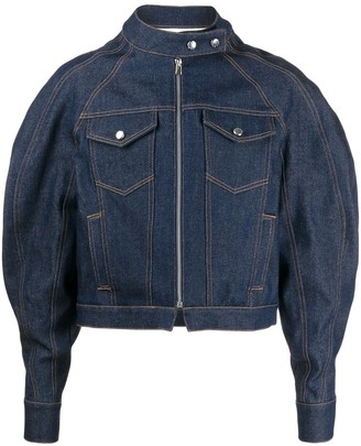 Eckhaus Latta Puff Sleeve Denim Jacket