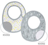 Skip Hop Baby Reversible Bib Set - Grey
