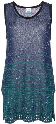 M Missoni sequinned colour block top