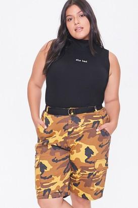 Forever 21 Plus Size Camo Cargo Shorts
