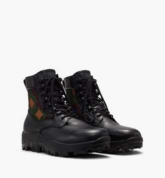 MCM Men's Resnick Combat Boot In Nylon Camo