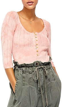 Free People Rory Three-Quarter Sleeve Henley Top