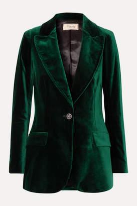 Temperley London Clove Velvet Blazer - Dark green
