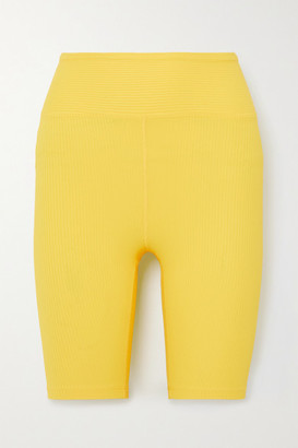 YEAR OF OURS Ribbed Stretch Shorts - Yellow
