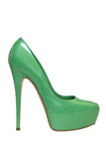 Casadei 140mm Patent Glossy Pumps