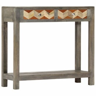 """Union Rustic Tanya 33.9"""" Solid Wood Console Table"""