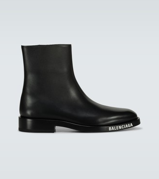 Balenciaga Soft Bootie leather boots