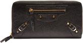 Balenciaga Classic Continental leather zip wallet
