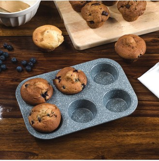 Salter Marble Collection Bakeware Set With Loaf Baking Tray, Muffin Tray and Baking Pan
