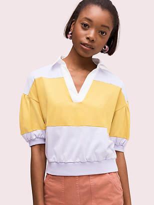 Kate Spade Stripe Polo Knit Tee