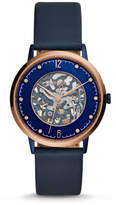 Fossil Limited Edition Nightscape Automatic Three-Hand Navy Blue Leather Watch