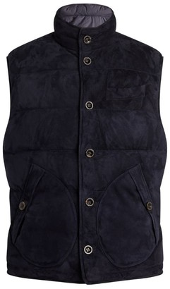 Ralph Lauren Purple Label Reversible Suede Gilet