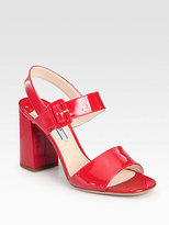 Patent Leather Double-Strap Sandals