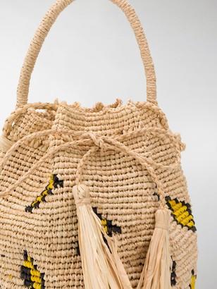 Alanui Tassel-Detail Straw Mini Bag