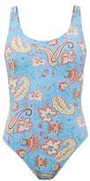 Etro Paisley-print Swimsuit - Womens - Blue Print