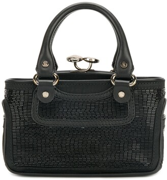 Céline Pre Owned 2000s Pre-Owned Mini Beaded Tote