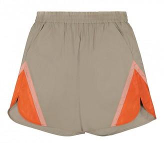 HOLZWEILER Orange Polyester Shorts