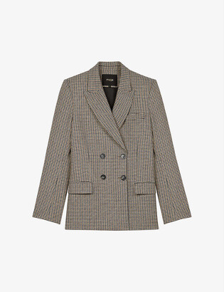 Maje Veling double-breasted twill blazer