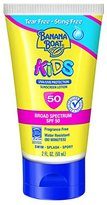 Banana Boat Sunscreen Kids Tear-Free Sting Free Broad Spectrum Sun Care Sunscreen Lotion, SPF 50, 2 Ounce (Pack of 3)