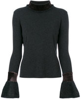 D-Exterior D.Exterior - trumpet sleeve knitted top - women - Viscose/Mohair/Wool/Polyimide - XS