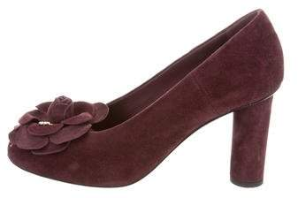 Chanel Camelia Suede Pumps