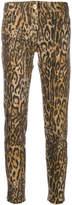 Blumarine leopard print skinny trousers