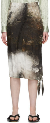 Acne Studios Multicolor Landscape Painting Skirt
