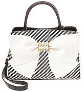 Betsey Johnson Pearl of A Girl Striped Bow Satchel