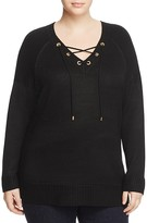 Calvin Klein Plus Lace-Up Sweater