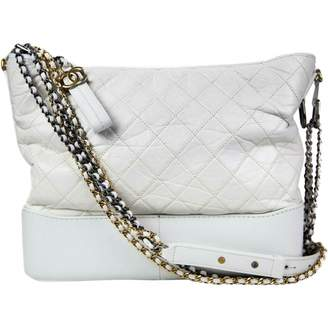 Chanel Gabrielle White Leather Handbags
